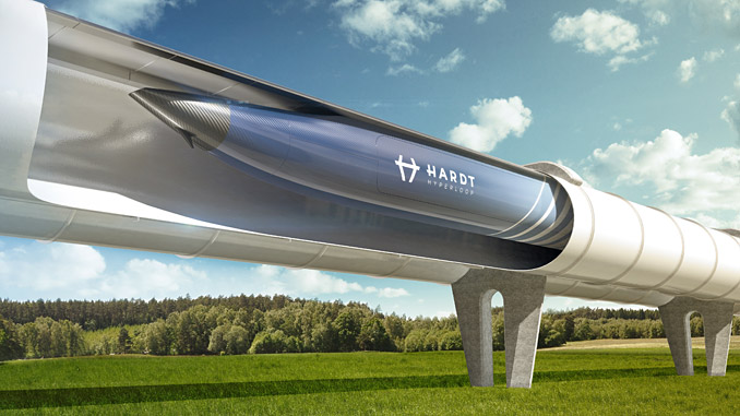 Breakthrough Hyperloop Lane Switch (HLS) technology allows hyperloop vehicles to change from one lane to another without additional or moving components