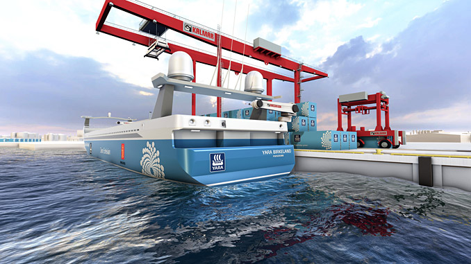 MacGregor will deliver an automated mooring system for the world's first autonomous container ship, 'Yara Birkeland'