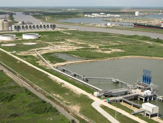 Freeport LNG Liquefaction project on Quintana Island in Freeport, Texas