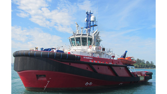'RT Kuri Bay' – one of the three vessels used by KOTUG to serve the 'Shell Prelude' facility
