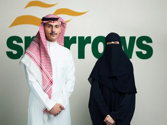 Sparrows local Kingdom of Saudi Arabia operations assistant, Sultan Ghamdi, and regional accountant, Mariam Aleid