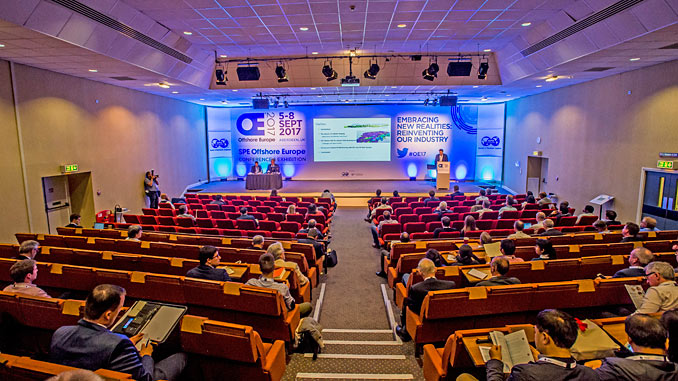 SPE Offshore Europe includes a three parallel stream technical conference with 75 technical papers and a two-stream keynote programme with more than 70 senior executives discussing key industry issues in 12 2-hour sessions (photo: SPE Offshore Europe/Alan Peebles)