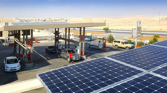 Total's goal is to solarise 5,000 service stations in 57 countries