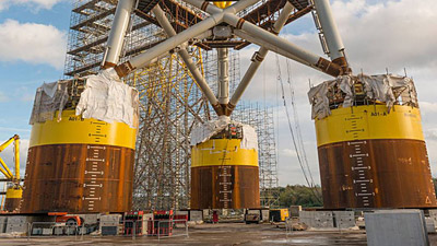 Suction bucket jacket foundations – a quieter method of installing foundations for offshore wind farms