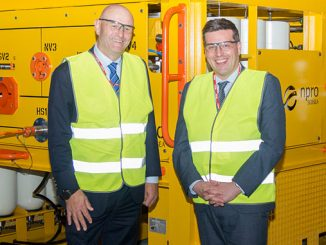 Enpro Subsea's Tom Bryce with MSP Jamie Hepburn, Minister for Business, Fair Work and Skills