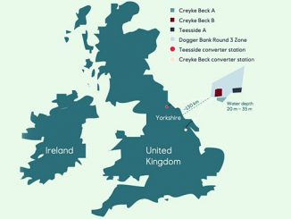 The Dogger Bank wind farm will consist of three projects, Creyke Beck A, Creyke Beck B and Teesside A