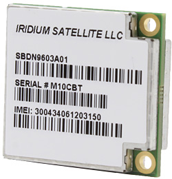 With the smallest form factor of any commercial satellite transceiver available, the Iridium 9603 is ideal for space-constrained applications including monitoring, tracking and alarm systems
