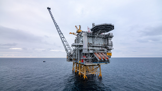The North Sea Martin Linge field, located 42 kilometres west of Oseberg in a water depth of 115 metres, is an oil and gas discovery made in 1978 (photo: Equinor/Jan Arne Wold/Worldcam)