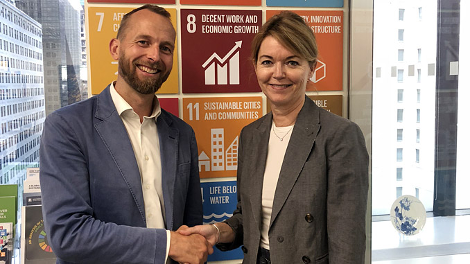 Per Martin Tanggaard, Director Nor-Shipping and Lise Kingo, Executive Director, UNGC