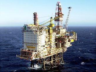 Gyda platform, located in the southern part of the Norwegian sector of the North Sea, between the Ula and Ekofisk fields