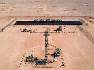 A reliable and less expensive way to power a remote well – using renewable energy at unconventional well sites such as this one in Wa'ad Al-Shamal provides multiple benefits