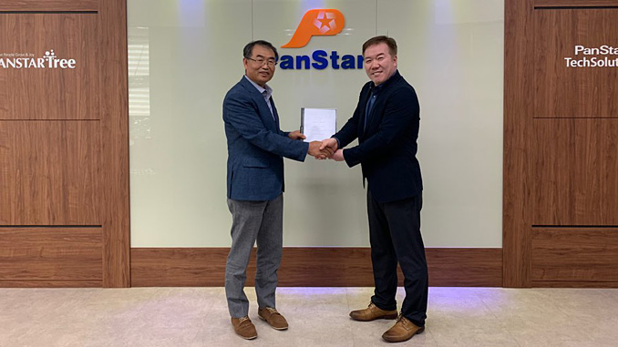 From left, Jae-Geun Kwon, Representative Director, PanStar TechSolution Co., Ltd., and Woo Ho Yoo, General Manager, Services, Wärtsilä Korea, at the contract signing, which took place on July 8 at the PanStar TechSolution offices in South Korea