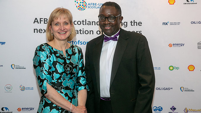 Forward thinking – OGUK chief executive Deirdre Michie with Dr Ollie Folayan, chair of Aberdeen-based AFBE-UK Scotland