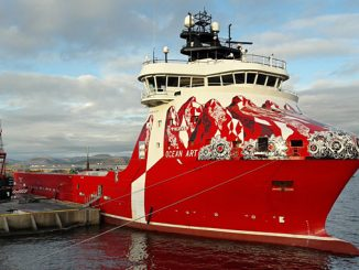 The 'Ocean Art', one of two Atlantic Offshore vessels to be upgraded with a Wärtsilä Hybrid package
