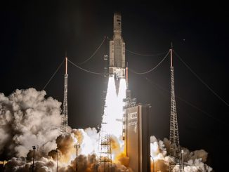 Inmarsat GX5 launch from the Ariane Launch Complex in Kourou, French Guiana (photo: ESA-CNES-Arianespace/Optique Vidéo du CGS – P PIRON)