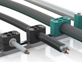 DIN clamps from Stauff can now be used for additional line types with optimum results: cables and corrugated conduit hoses