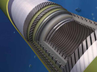 Flexible Pipe combines the strength and durability of steel pipe with the ability to handle wave and wind induced motion (illustration: Baker Hughes)