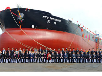 The Wärtsilä Exhaust Gas Cleaning System installed onboard the 'New Treasure' has received CCS Type Approval (photo: Dalian Shipbuilding Industry)