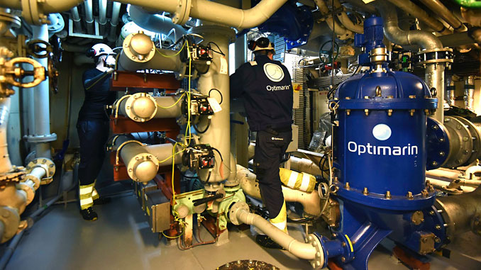 Simple, reliable, proven: Optimarin engineers conducting final system commissioning onboard the 'Vectis Falcon'