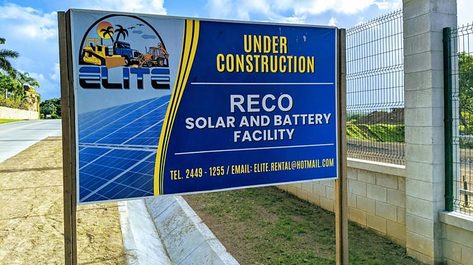 RECO project construction site