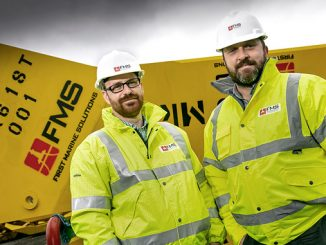 At left, Marc Petty, Marine Manager, and Darren Rendall, Technical Director, First Marine Solutions